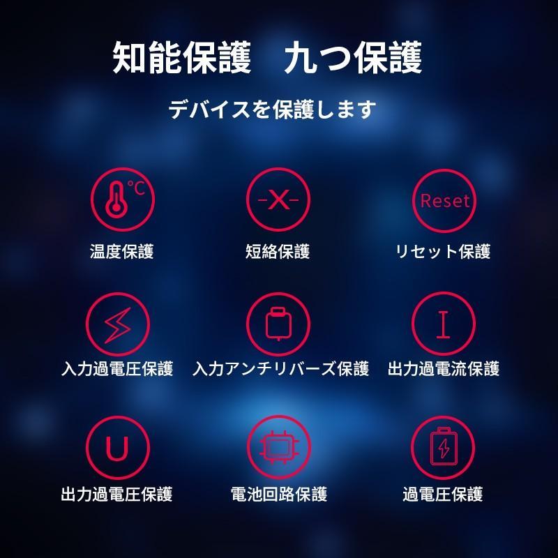モバイルバッテリー Mini 大容量 薄型 軽量 10000mAh ケーブル内蔵 携帯充電器 コンパクト 急速充電 スマホ充電器 二台同時充電 LED iPhone 11 Android(d30) elsies 12