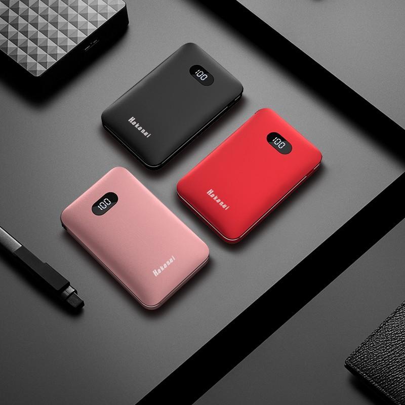 モバイルバッテリー Mini 大容量 薄型 軽量 10000mAh ケーブル内蔵 携帯充電器 コンパクト 急速充電 スマホ充電器 二台同時充電 LED iPhone 11 Android(d30) elsies 16