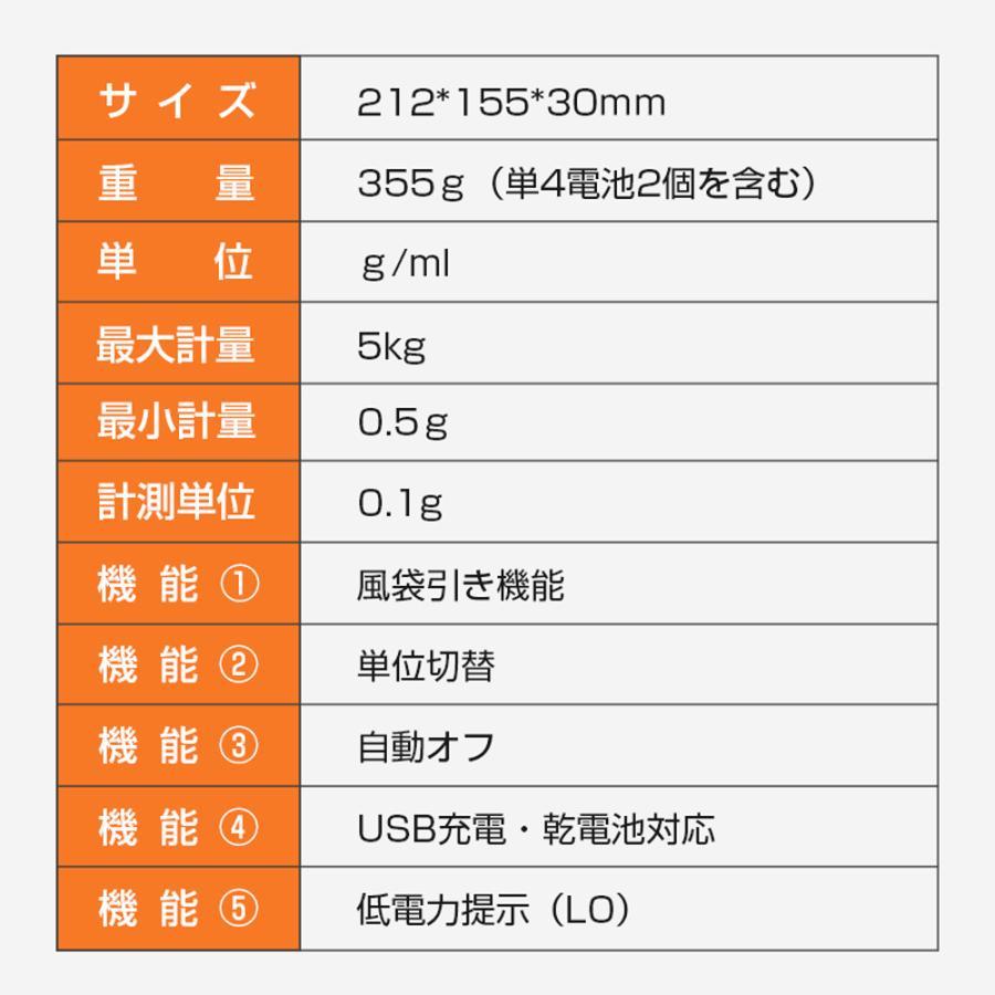 はかり キッチンスケール 計量計 0.1g 単位 デジタル計量器 高精度センサー デジタル クッキングスケール  電子スケール  精密電子秤  コンパクト (C305W) elsies 08