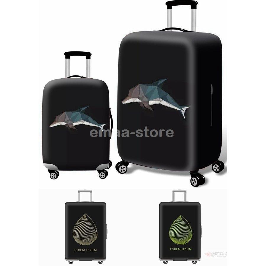 スーツケースカバー キャリーバッグケースカバー ラゲッジカバー トランク伸縮保護カバー 汚れ 傷 盗難防止 お洒落 旅行用品 S/M/L/XLサイズ適用|emaa-store