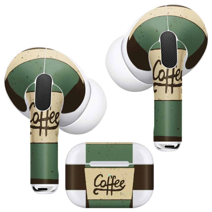 Air Pods Pro 専用 デザインスキンシール 対応 airpodspro エアポッドプロ apple アップル イヤフォン イヤホン  カフェ コーヒー シンプル 010435|emart
