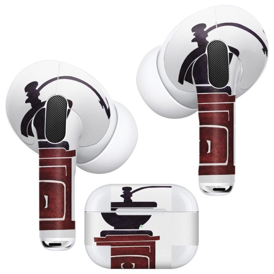 Air Pods Pro 専用 デザインスキンシール 対応 airpodspro エアポッドプロ apple アップル イヤフォン イヤホン  コーヒー カフェ 014687|emart