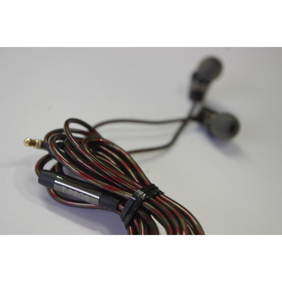 ティーぺオスT-PEOS POPULARIIブラック黒  ポピュラー ダイナミックドライバーイヤホン eme-audio-store 02