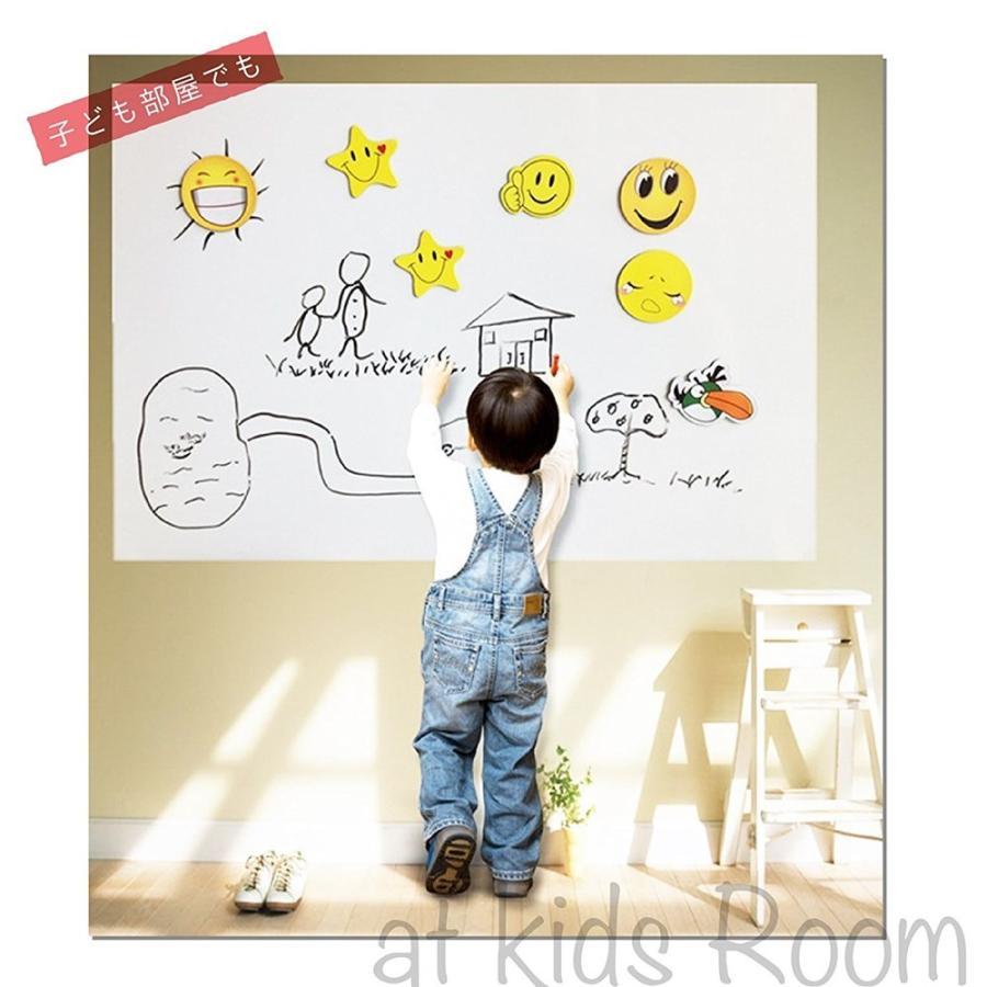 ホワイトボード シート ウォールステッカー 落書き 壁 お絵かき オフィス 会議 教室 掲示板 壁紙 事務用品 大サイズ  90cm×200cm  佐川|emi-direct|02
