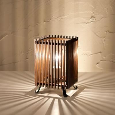 新洋電気 和風照明 和室 スタンドライト 簾 ren S 民芸塗 中間調光タイプ A536-T【60サイズ】