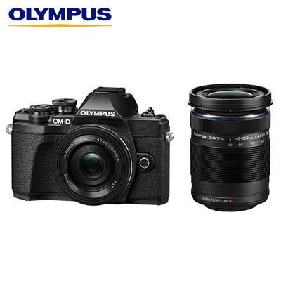 オリンパス デジタル一眼カメラ ミラーレス一眼カメラ OM-D E-M10 Mark III EZダブルズームキット E-M10-MKIII-EZWZK-BK ブラック【80サイズ】