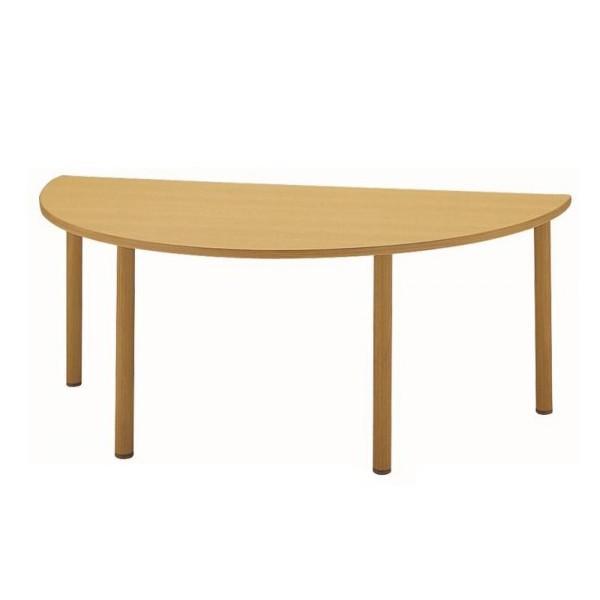 サンケイ 半楕円形テーブル(H700〜750mm) TCA169-ZCW同梱不可 代引き不可