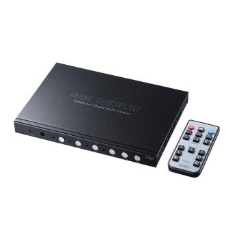 4入力1出力HDMI画面分割切替器(4K対応) SW-UHD41MTV同梱不可