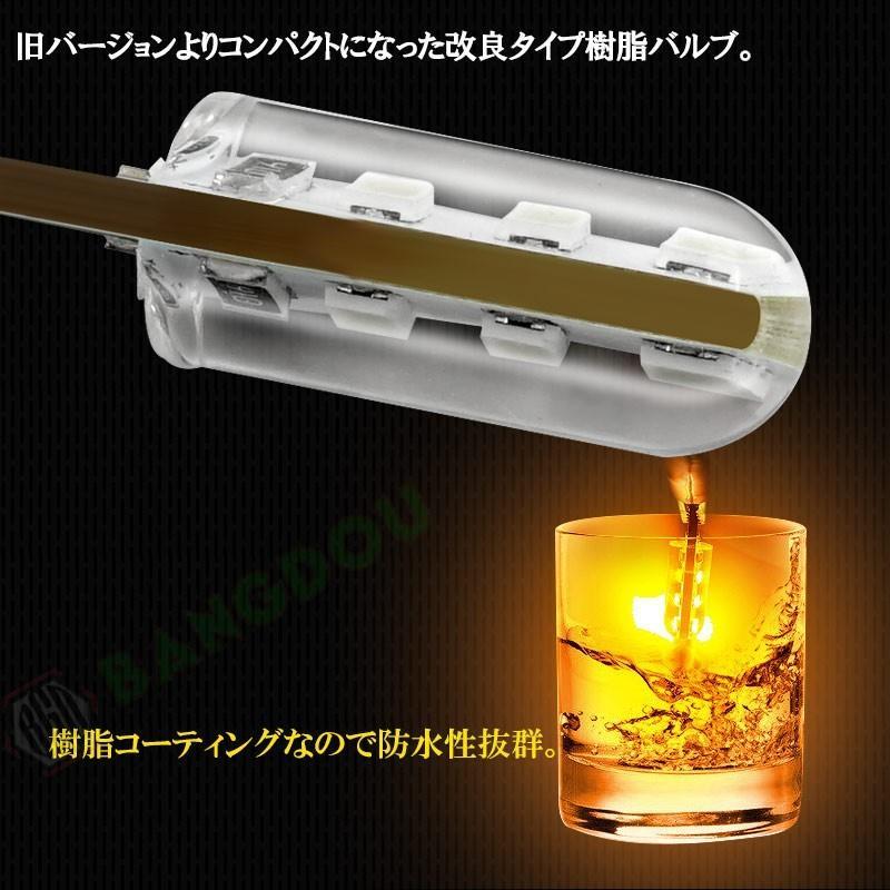 T10 LEDバルブ 3chip ホワイト PVC製 樹脂バルブ 2個セット ルームランプ ポジション ナンバー灯 ライセンスランプ バックランプ アンバー emonoplus 04