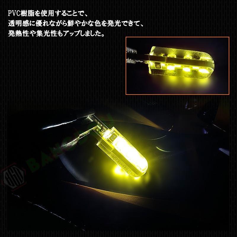 T10 LEDバルブ 3chip ホワイト PVC製 樹脂バルブ 2個セット ルームランプ ポジション ナンバー灯 ライセンスランプ バックランプ アンバー emonoplus 05