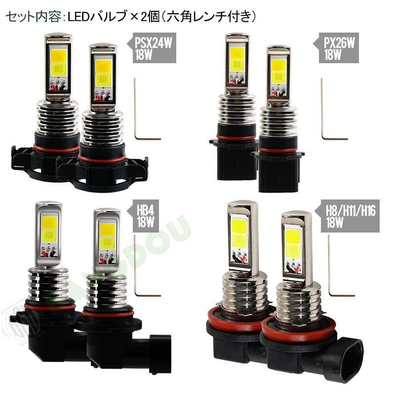 LEDバルブ デイライト フォグランプ専用 イエロー ホワイト 2色フォグ ダブルカラー 角度調整可能 2色切り替え式フォグライト LED 超耐久 emonoplus 02