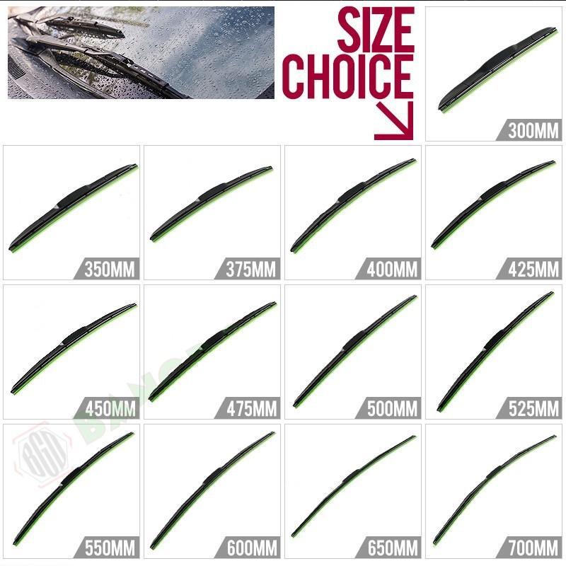 エアロワイパー U型フック ワイパーブレード 2本 ワイパー替えゴム グラファイト仕様 全13サイズから選択自由 高品質 純正交換 梅雨対策 300mm~700mm emonoplus 03
