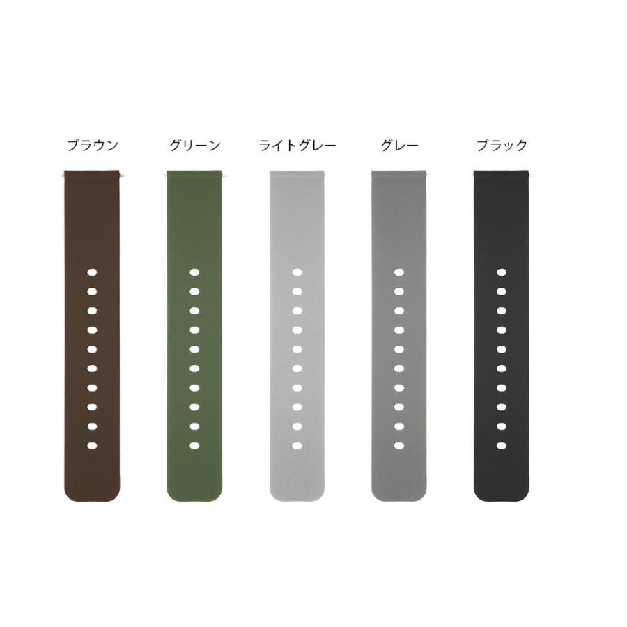 時計 ベルト 腕時計 バンド 18mm 20mm 22mm EMPIRE シリコン イージークリック|empire|08