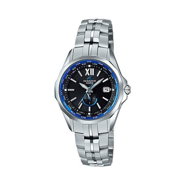 最も信頼できる カシオ CASIO 腕時計 レディース OCW-S340-1AJF OCEANUS クォーツ ブラック シルバー国内正規, milieu 348f9708