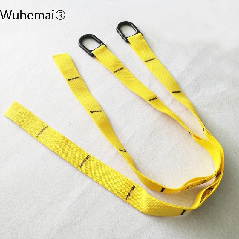 薄黄色 Wuhema空気ヨガハンモックアジャスタブルスポーツ