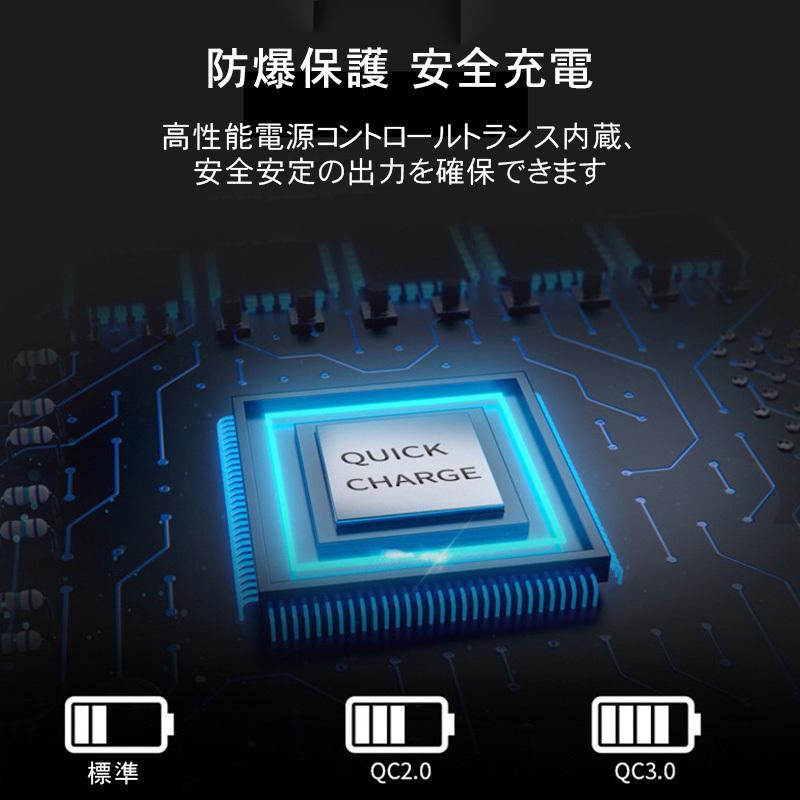 2.1A スマホ充電器 usbコンセント usbアダプター USB充電器 ACアダプター 3ポート Quick Charge 3.0 iPhone Android Type-C qc3.0 高速充電 得トクセール|en-shop|05