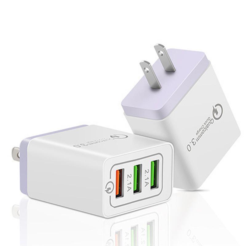 ACアダプター USB充電器 2.1A QC3.0搭載 USB3ポート 3口 スマホ充電器 iPhone Android Type-c各種対応 急速同時充電器 ACコンセント 海外対応 得トクセール en-shop 18