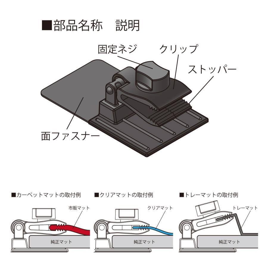 「ズレ防止」 「ガッチリ固定」安心安全 の 必需品 あらゆる汎用マット に 幅広く対応 汎用マットに簡単取付 イナス マットストッパークリップ MS8S|enas-store|02