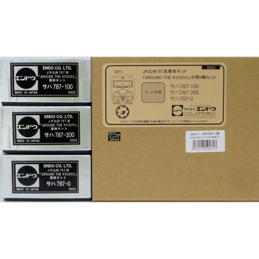 エンドウ JR九州 787系「AROUND THE KYUSYU」 中間3輌 車体キット  真鍮製 スケール:1/80 レール幅16.5mmゲージ(HOゲージ)