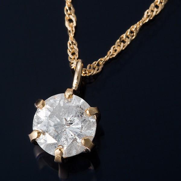 世界的に有名な K18 0.3ctダイヤモンドペンダント/ネックレス スクリューチェーン【商工会会員です】, 輝い 45867603