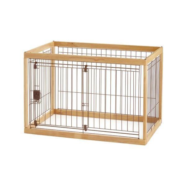 木製ペットサークル 90-60 ナチュラル〔ペット用品〕【商工会会員です】