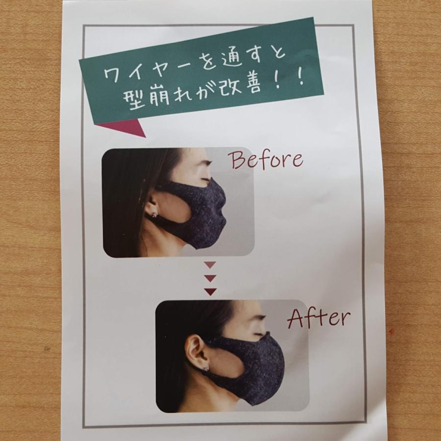 日本製 接触冷感マスク 二重マスクにも使える UVカット 洗える夏マスク3枚組  立体マスク 変異ウイルス対策 花粉 ソフトワイヤー付き eng 11