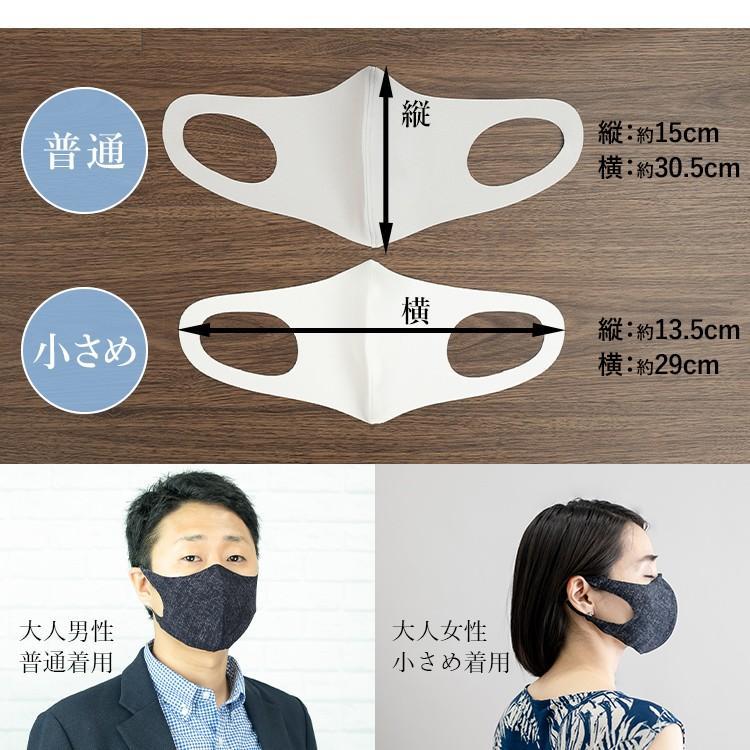 日本製 接触冷感マスク 二重マスクにも使える UVカット 洗える夏マスク3枚組  立体マスク 変異ウイルス対策 花粉 ソフトワイヤー付き eng 06