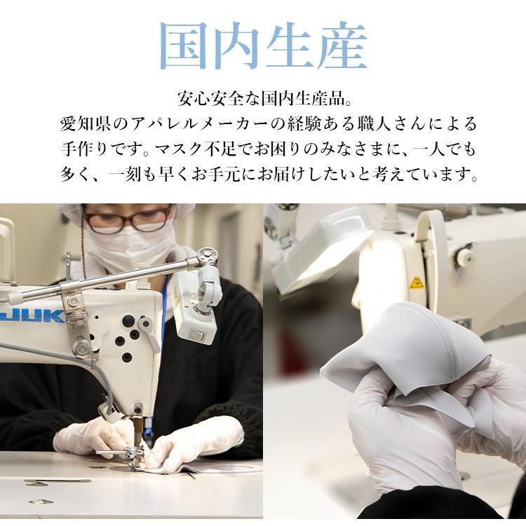 日本製 接触冷感マスク 二重マスクにも使える UVカット 洗える夏マスク3枚組  立体マスク 変異ウイルス対策 花粉 ソフトワイヤー付き eng 07