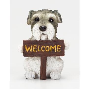 S9270 ウェルカムボード 市販 ドック シュナウザー 犬 シュナウザーグッズ シュナウザー置物 かわいい 正規激安 シュナウザー雑貨