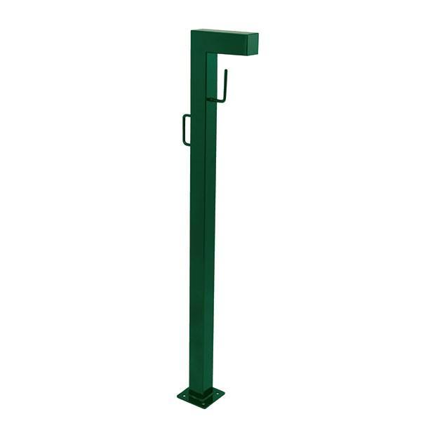 ドッグポールCタイプ·グリーン(ガーデン用のベースプレート付き犬用スタンド)