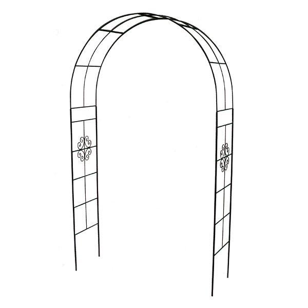 ガーデンアーチA-500:ブラック(幅150cm、高さ260cm)