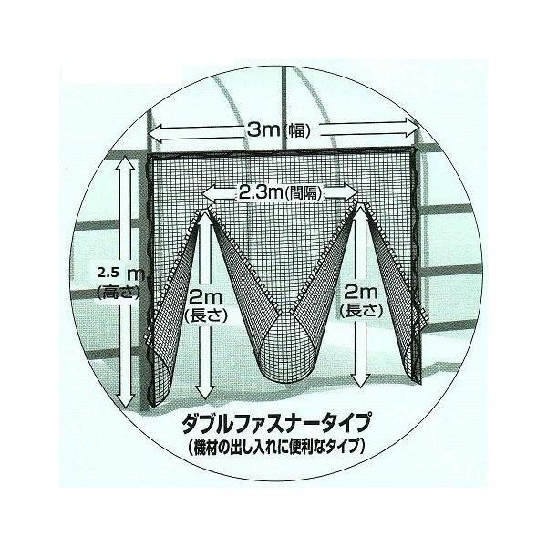 防虫つまネット 1mm目 ダブルファスナー 3×2.5m