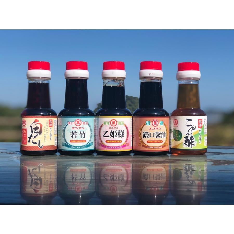 国内即発送 送料無料 エンマン醤油 お試しセット 贈与 各5本詰め合わせ 人気商品150ml