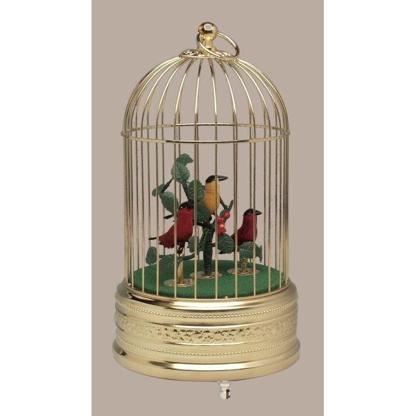 バードケージ「金」鳥3羽