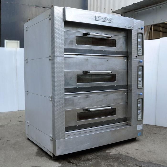 フジサワマルゼン 業務用 デッキオーブン 電気オーブン EAPS-222B【中古】