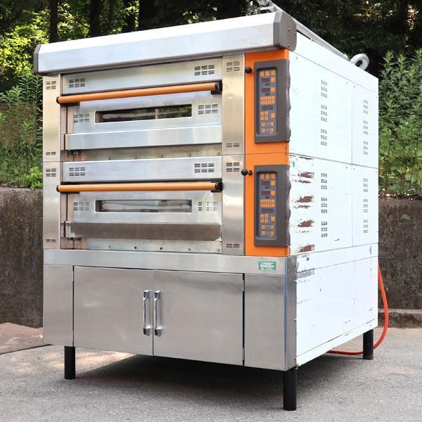 三幸機械 SANKO ニューコンポオーブン デッキオーブン TMC-CC-21S 2段型 業務用 電気オーブン 2002年 【中古】