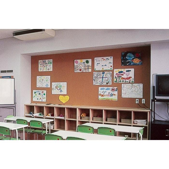 幅1000mm×厚2mm×9m掲示板用小粒コルクシート 学校、病院などの掲示板、ご家庭の壁材、内装下地材、室内装飾アクセント用などにご利用いただけます。