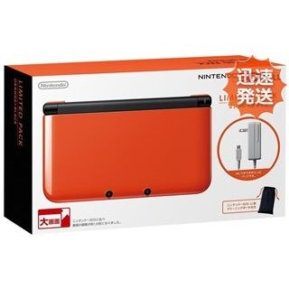 3DS ニンテンドー3DS LL リミテッドパック オレンジXブラック 本体 完品 Nintendo 任天堂 ニンテンドー 中古 送料無料