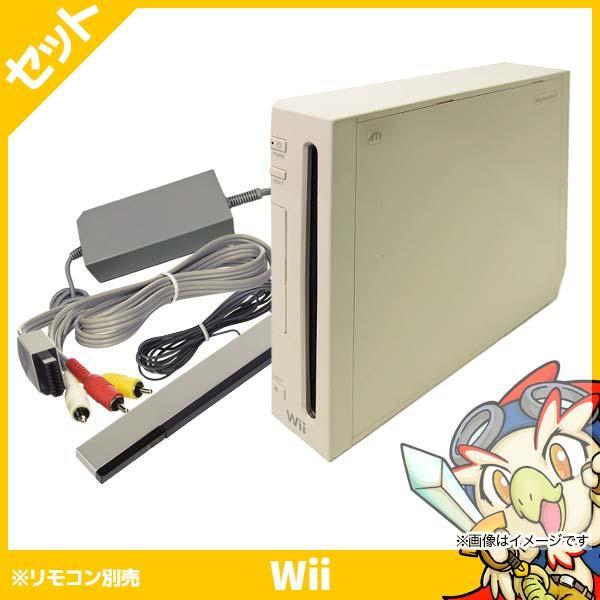 Wii ウィー 本体 シロ 白 ニンテンドー 任天堂 Nintendo 中古 4点セット|entameoukoku