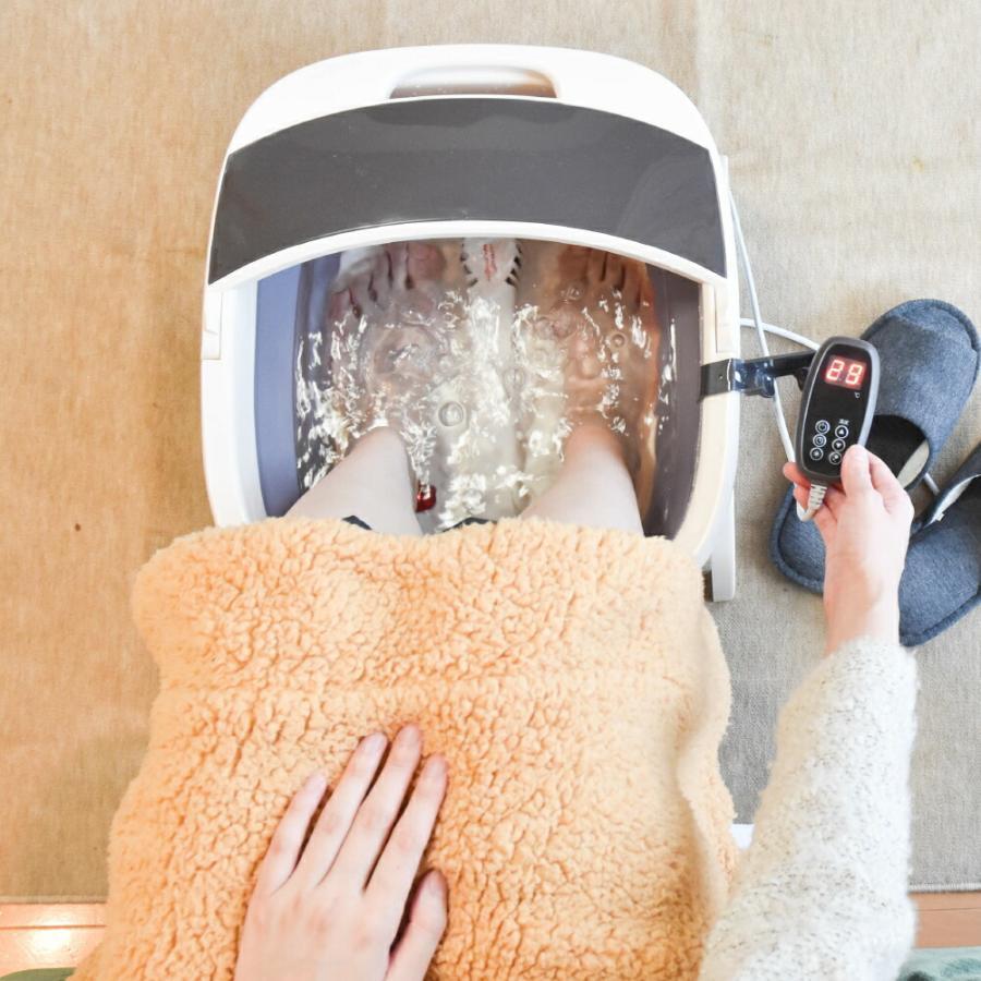 温度調整できる バブルフットバス 足ぽっか サンコー 足湯 フットバス SHWFFJB2 足湯 保温 足浴 冷え性 バブル 温度調整 加温 加熱|enteron-kagu-shop|02