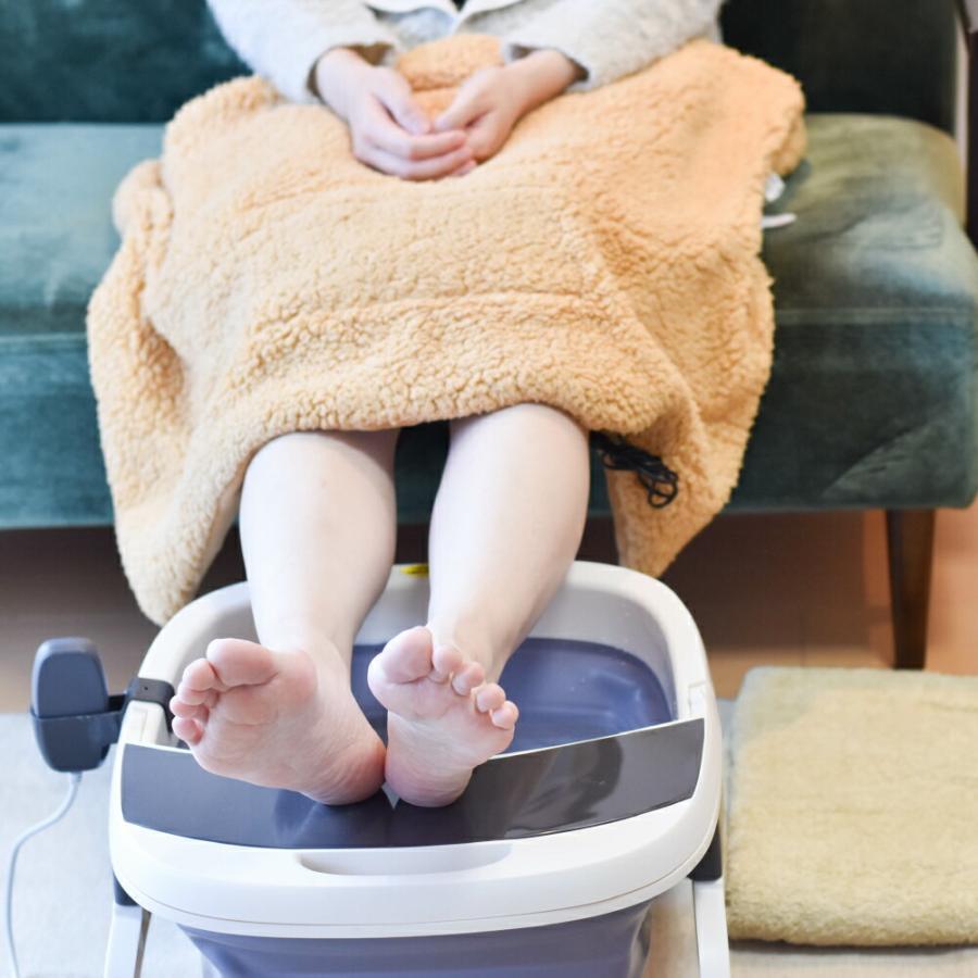 温度調整できる バブルフットバス 足ぽっか サンコー 足湯 フットバス SHWFFJB2 足湯 保温 足浴 冷え性 バブル 温度調整 加温 加熱|enteron-kagu-shop|06
