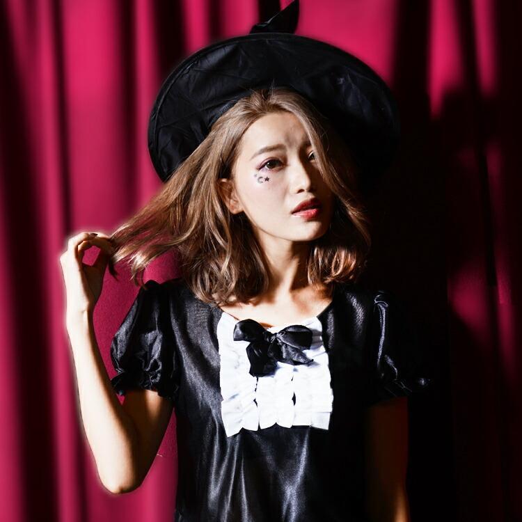 コスプレ ハロウィン 魔女 ファッションウィッチ 女性 女 かわいい 可愛い オシャレ お洒落 コスチューム 魔法使い 仮装 衣装 可愛い|enteron-kagu-shop|02