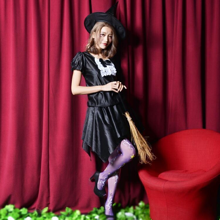 コスプレ ハロウィン 魔女 ファッションウィッチ 女性 女 かわいい 可愛い オシャレ お洒落 コスチューム 魔法使い 仮装 衣装 可愛い|enteron-kagu-shop|03