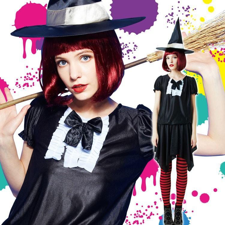 コスプレ ハロウィン 魔女 ファッションウィッチ 女性 女 かわいい 可愛い オシャレ お洒落 コスチューム 魔法使い 仮装 衣装 可愛い|enteron-kagu-shop|04