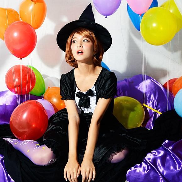コスプレ ハロウィン 魔女 ファッションウィッチ 女性 女 かわいい 可愛い オシャレ お洒落 コスチューム 魔法使い 仮装 衣装 可愛い|enteron-kagu-shop|06