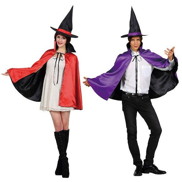 9月中旬入荷 レッド8月上旬以降入荷 コスプレ ハロウィン 2カラーマント 大人 レッド/パープルコスチューム halloween 仮装 女性 enteron-kagu-shop