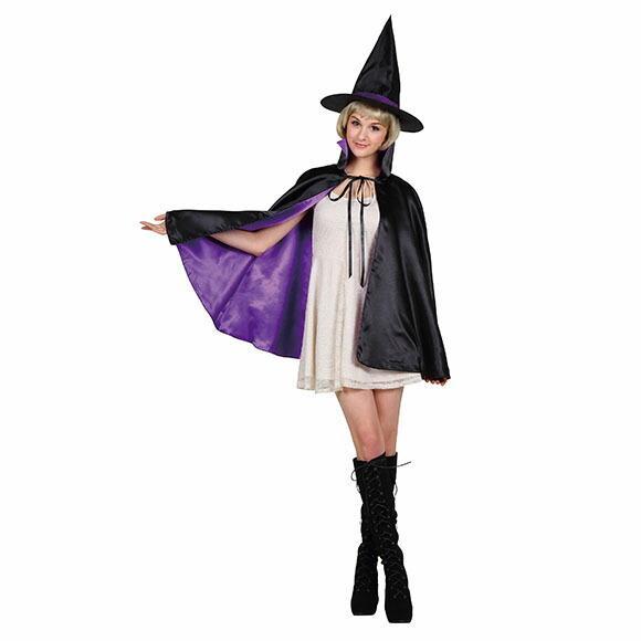 9月中旬入荷 レッド8月上旬以降入荷 コスプレ ハロウィン 2カラーマント 大人 レッド/パープルコスチューム halloween 仮装 女性 enteron-kagu-shop 14