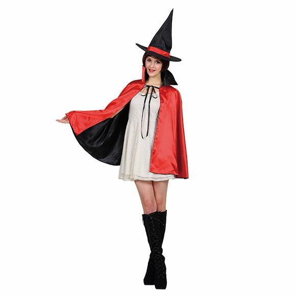 9月中旬入荷 レッド8月上旬以降入荷 コスプレ ハロウィン 2カラーマント 大人 レッド/パープルコスチューム halloween 仮装 女性 enteron-kagu-shop 04