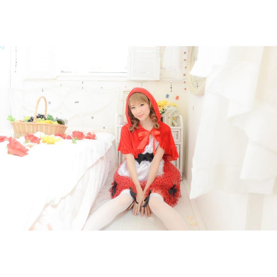 ハロウィン コスプレ 赤ずきんちゃん 赤ずきん レッドフードガール 大人 女性 コスチューム ハロウィーン 女性用 可愛い enteron-kagu-shop 02