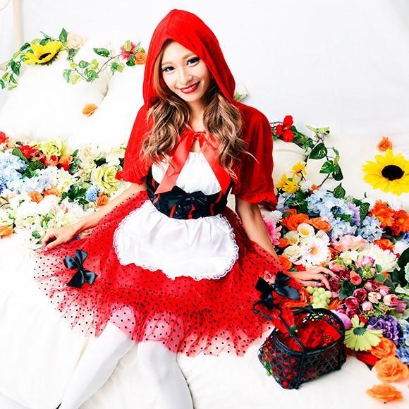 ハロウィン コスプレ 赤ずきんちゃん 赤ずきん レッドフードガール 大人 女性 コスチューム ハロウィーン 女性用 可愛い enteron-kagu-shop 04